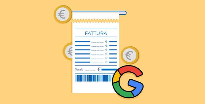 Come ricevere una fattura italiana Google