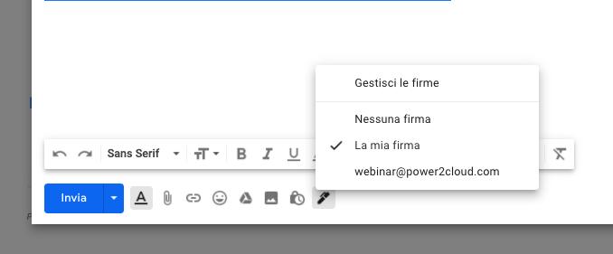 Crea e gestisci più firme in Gmail.