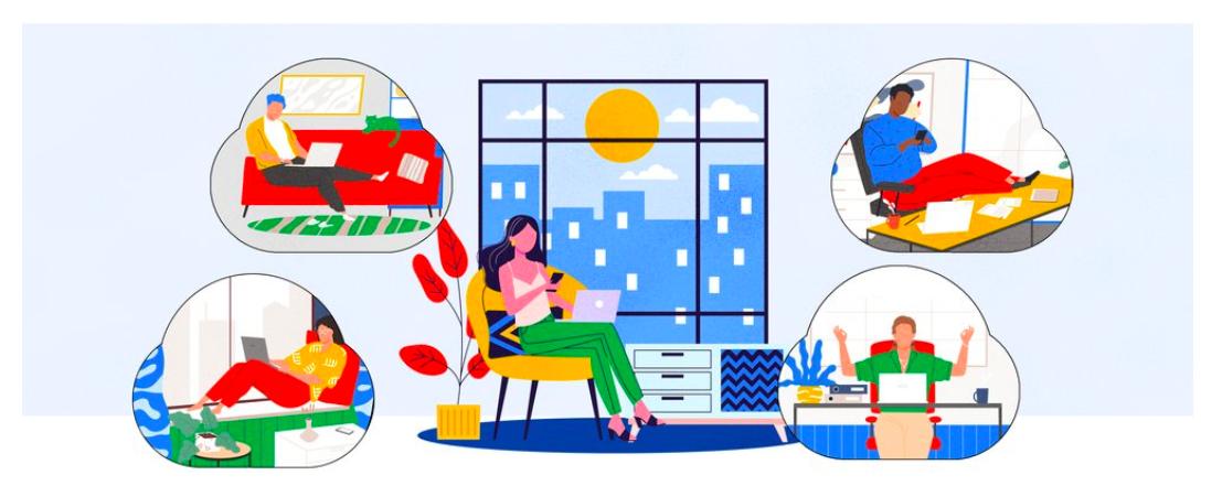 Google Meet per organizzare videoconferenze, demo, lezioni di yoga, per studiare.