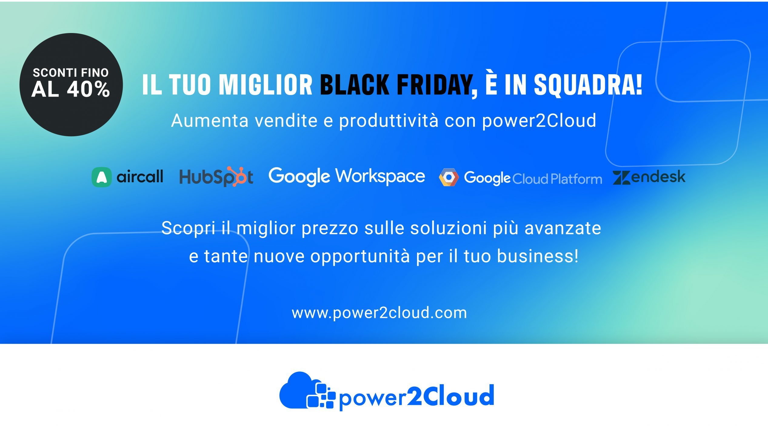 offerte soluzioni cloud Black Friday power2Cloud